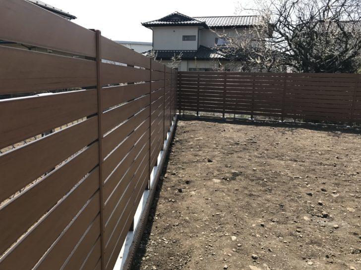 木目調 板張りフェンス