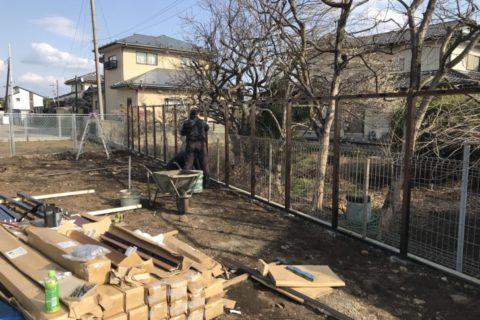 大田原市 S様邸 目隠しフェンス 施工