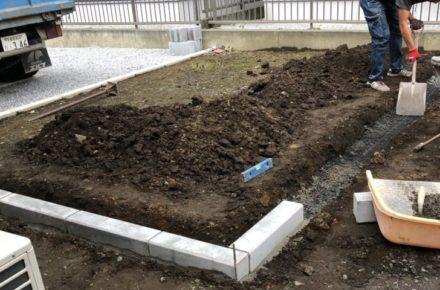 栃木県 宇都宮市 M様邸 ガーデン工事着工