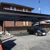 栃木県 宇都宮市 O様邸 カーポート工事完成しました。